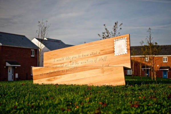 2. A giant letter bench in Bristol, England